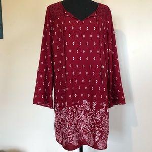 BeBop Red Boho Dress